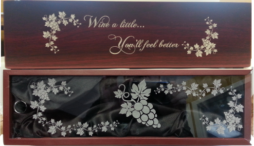 winebox, engraved