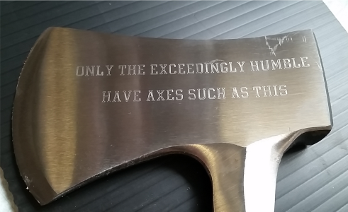 Axe Engraving
