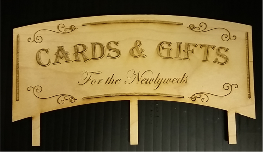 Gift Card Sign